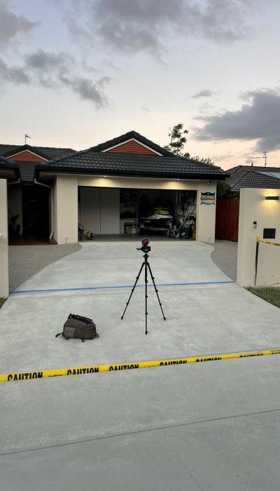 Concrete sealing - House Driveway Before